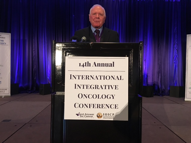 dr forsythe speaking at the 14th annual international integrative oncology conference